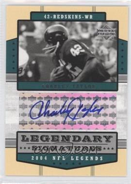 2004 Upper Deck NFL Legends Legendary Signatures #LS-CT - Charley Taylor