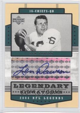 2004 Upper Deck NFL Legends Legendary Signatures #LS-LD - Len Dawson