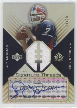 2004 Upper Deck Reflections Signature Threads Rainbow #ST-LO - J.P. Losman /15
