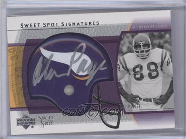 2004 Upper Deck Sweet Spot Signatures #SS-AP - Alan Page
