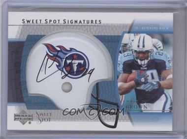2004 Upper Deck Sweet Spot Signatures #SS-CB - Chris Brown