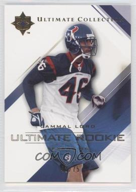 2004 Upper Deck Ultimate Collection - [Base] - Gold #77 - Jammal Lord /75