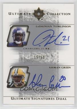2004 Upper Deck Ultimate Collection [???] #US2-TG - Ahman Green, LaDainian Tomlinson /50