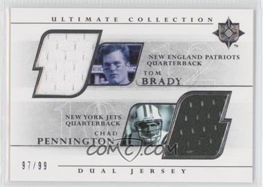 2004 Upper Deck Ultimate Collection Dual Jerseys #UGJ2-BP - Tom Brady, Chad Pennington /99