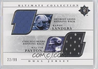 2004 Upper Deck Ultimate Collection Dual Jerseys #UGJ2-SP - Barry Sanders, Walter Payton