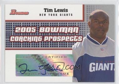 2005 Bowman - Coaching Prospects Autographs #BCP-TL - Tim Lewis