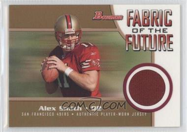 2005 Bowman - Fabric of the Future - Gold #FF-AS - Alex Smith /100