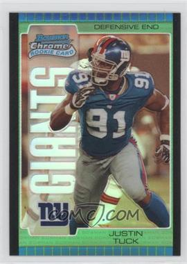 2005 Bowman Chrome Green Refractor #154 - Justin Tuck /399