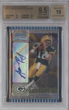 2005 Bowman Chrome #221 - Aaron Rodgers /299 [BGS 9.5]
