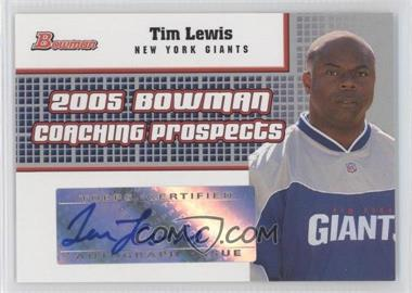 2005 Bowman Coaching Prospects Autographs #BCP-TL - [Missing]