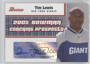 2005 Bowman Coaching Prospects Autographs #BCP-TL - Tim Lewis