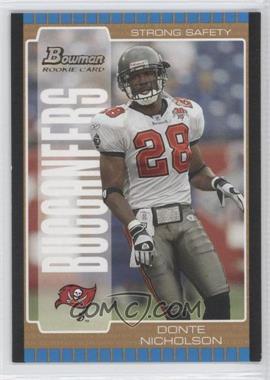 2005 Bowman Gold #188 - Donte Nicholson /1
