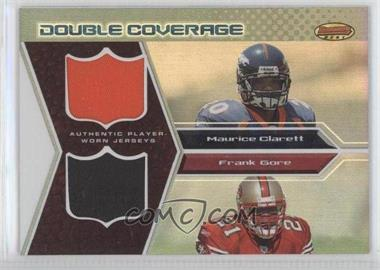 2005 Bowman's Best - Double Coverage Jerseys #DCR-CG - Mark Clayton, Frank Gore /50
