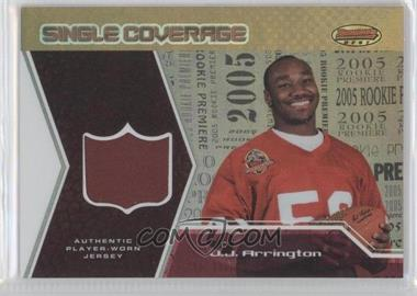 2005 Bowman's Best - Single Coverage Jerseys #SCR-JA - J.J. Arrington /50