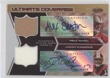2005 Bowman's Best - Ultimate Coverage Autographed Jerseys #UC-SC - Alex Smith, Jason Campbell /25