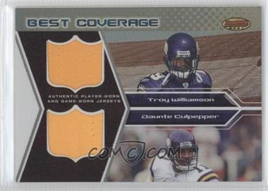2005 Bowman's Best [???] #BCR-WC - Troy Williamson, Daunte Culpepper /25