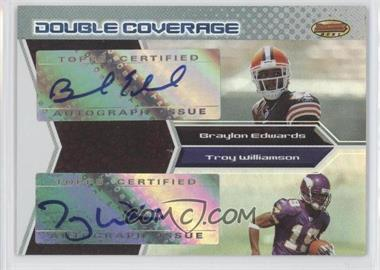 2005 Bowman's Best [???] #DCA-EW - Braylon Edwards, Troy Williamson /50