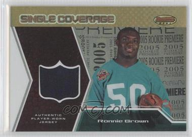 2005 Bowman's Best [???] #SCR-RB - Ronnie Brown /50
