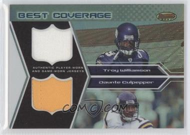 2005 Bowman's Best Best Coverage Jerseys #DCR-WC - Troy Williamson, Daunte Culpepper /25