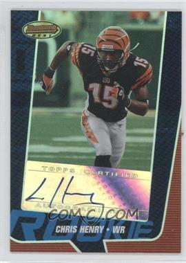 2005 Bowman's Best Blue #137 - Chris Henry /299