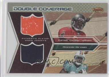2005 Bowman's Best Double Coverage Jerseys #DCR-WB - Cadillac Williams, Ronnie Brown /50