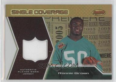 2005 Bowman's Best Single Coverage Jerseys #SCR-RB - Ronnie Brown /50
