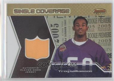 2005 Bowman's Best Single Coverage Jerseys #SCR-TW - Troy Williamson /50
