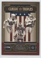 Jerry Rice, Steve Largent, Michael Irvin /150