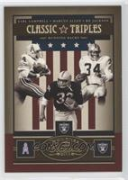 Bo Jackson, Earl Campbell, Marcus Allen /75