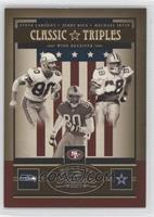 Jerry Rice, Steve Largent, Michael Irvin /150
