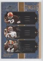 Jim Brown, Leroy Kelly, Paul Warfield /250