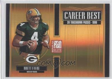 2005 Donruss Elite Career Best Gold #CB-4 - Brett Favre /500