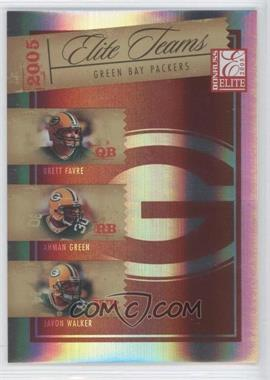 2005 Donruss Elite Elite Teams Red #ET-9 - Brett Favre, Ahman Green, Javon Walker /500