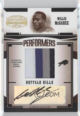 2005 Donruss Gridiron Gear [???] #P-50 - Willis McGahee /25
