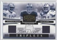Keyshawn Johnson, Drew Bledsoe, Roy Williams /100