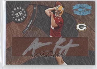 2005 Donruss Throwback Threads - Rookie Hoggs - Autographs Hawaii Trade Conference [Autographed] #RH-15 - Aaron Rodgers /12