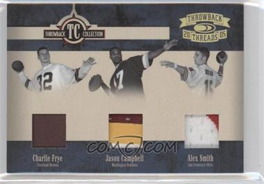 2005 Donruss Throwback Threads [???] #TC-16 - Charlie Frye, Alex Smith, Jason Campbell /25
