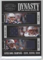 Tom Brady, Corey Dillon, Troy Brown /50