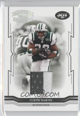 2005 Donruss Throwback Threads Materials Prime [Memorabilia] #101 - Curtis Martin /25