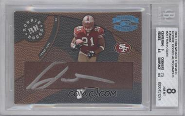 2005 Donruss Throwback Threads Rookie Hoggs Autographs Hawaii Trade Conference [Autographed] #RH-26 - Frank Gore /12 [BGS 8]