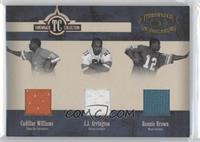 Cadillac Williams, J.J. Arrington, Ronnie Brown /100