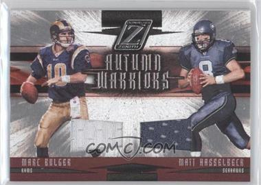 2005 Donruss Zenith - Autumn Warriors - Materials [Memorabilia] #AW-20 - Marc Bulger, Matt Hasselbeck /250