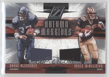 2005 Donruss Zenith Autumn Warriors Materials [Memorabilia] #AW-18 - Shaun Alexander /250