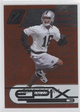 2005 Donruss Zenith Epix 1st Down Orange #E-21 - Randy Moss /1000
