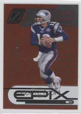 2005 Donruss Zenith Epix 1st Down Orange #E-24 - Tom Brady /1000