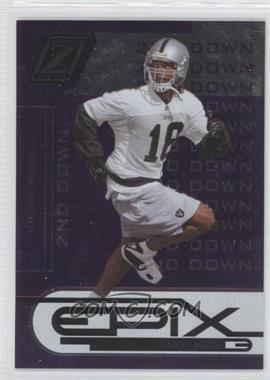 2005 Donruss Zenith Epix 2nd Down Purple #E-21 - Randy Moss /250