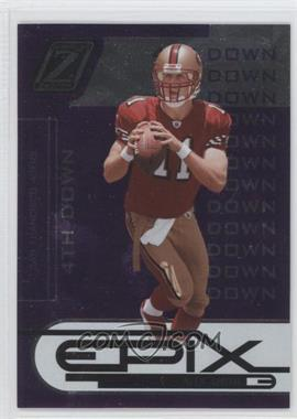 2005 Donruss Zenith Epix 4th Down Purple #E-1 - Alex Smith /100