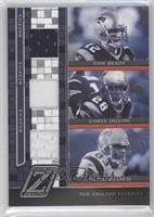Tom Brady, Corey Dillon, Deion Branch /100