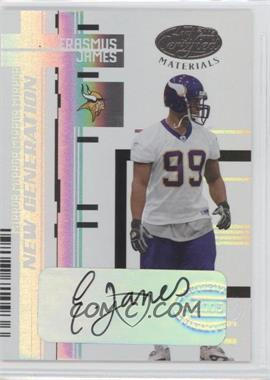 2005 Leaf Certified Materials - [Base] - Mirror White Signatures [Autographed] #159 - Erasmus James /50
