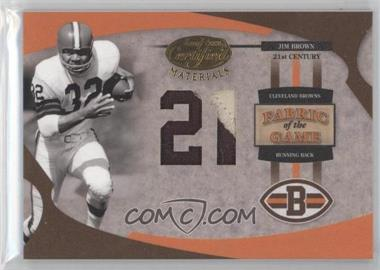 2005 Leaf Certified Materials - Fabric of the Game - 21st Century #FG-38 - Jim Brown /21